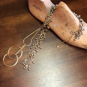 Bundle of Two Long Necklaces with Circular Details